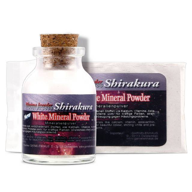 Shirakura - White Mineral Powder - 8 g Glasflasche
