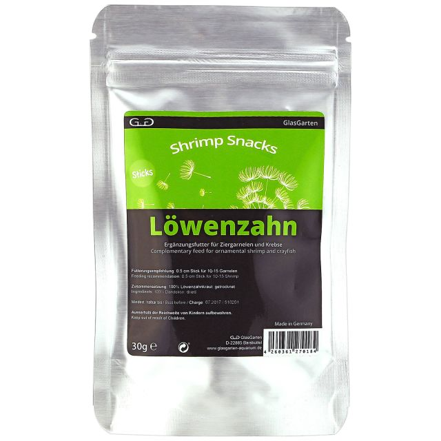 GlasGarten - Shrimp Snacks - Löwenzahn