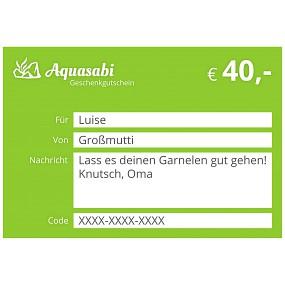 Aquasabi - 40,- Gutschein