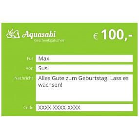 Aquasabi - 100,- Gutschein