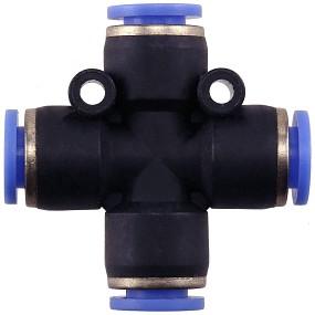 Aquasabi - Kreuz-Verbinder - 6 mm