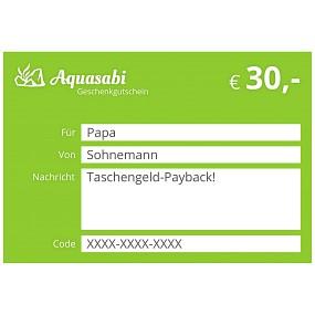 Aquasabi - 30,- Gutschein