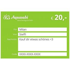 Aquasabi - 20,- Gutschein
