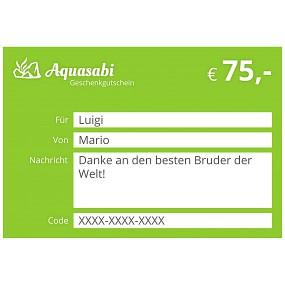 Aquasabi - 75,- Gutschein