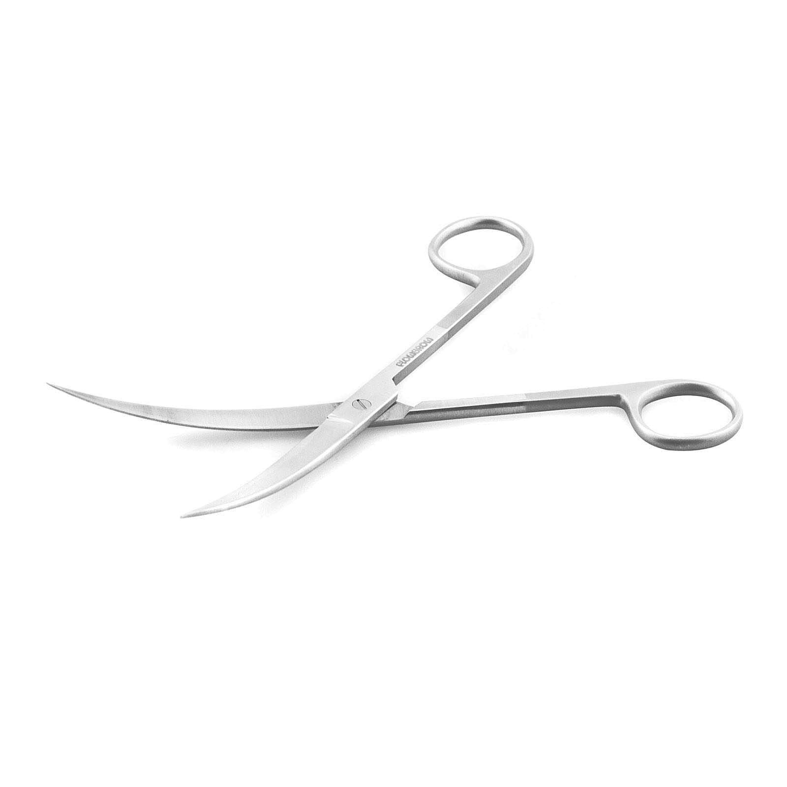 Flowgrow - Short Scissors - gebogen - 16,8 cm